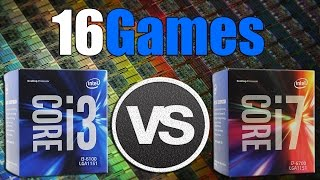 i3 6100 vs i7 6700   gtx 1070 oc   2560 x 1440   in 16 games