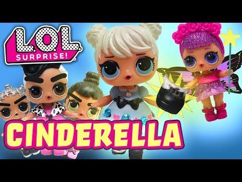 LOL Surprise Dolls Cinderella Play! Featuring Dollface, Sugar Queen, MC Swag, Honeybun & Super BB!