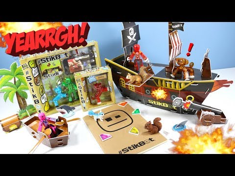 #Stikbot Pirate Movie Set Review And A Huge Box Of Swag From Zing Animation!