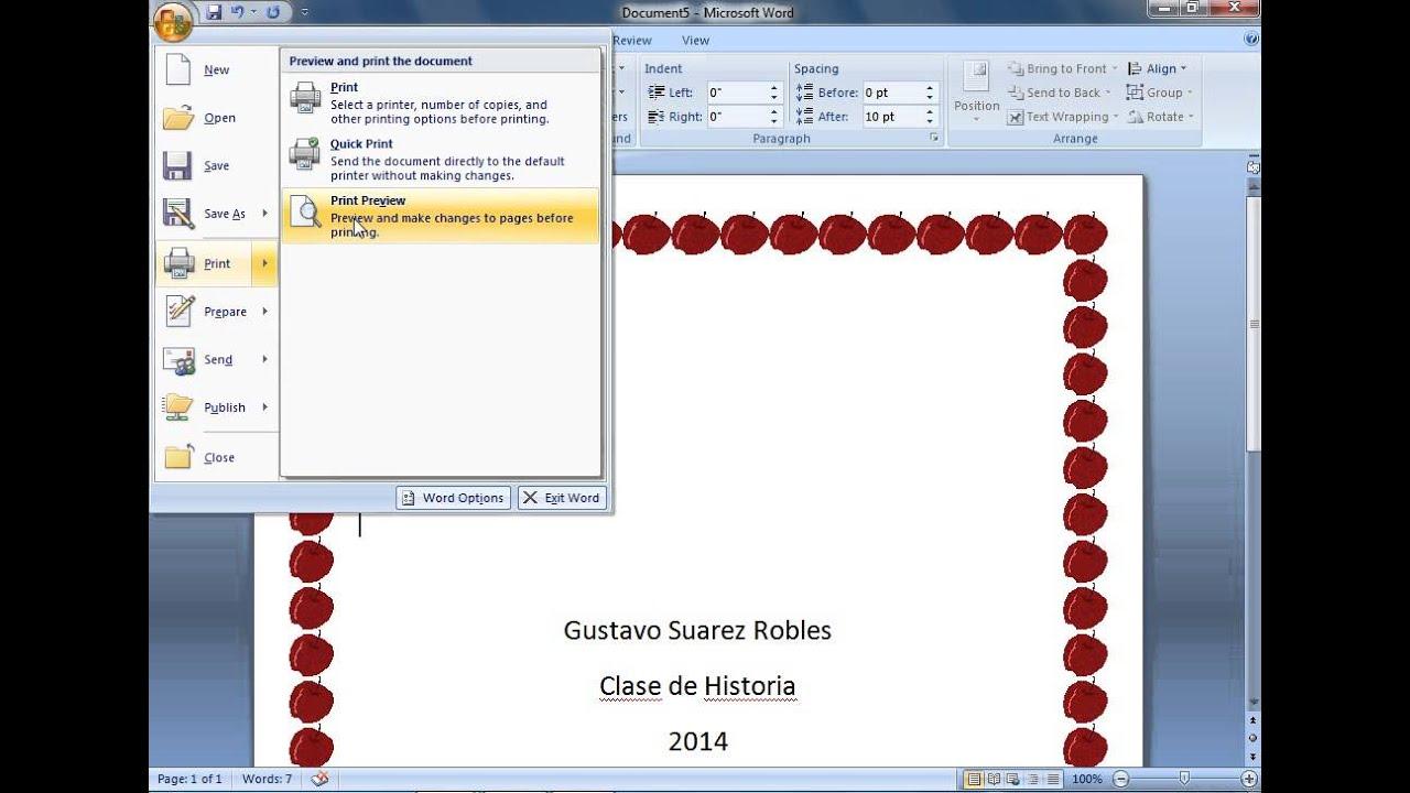Famoso Marcos Y Bordes De Microsoft Word Bosquejo - Ideas ...