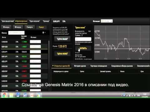 Лучшая стратегия бинарных опционов НОВАЯ Genesis Matrix 2016