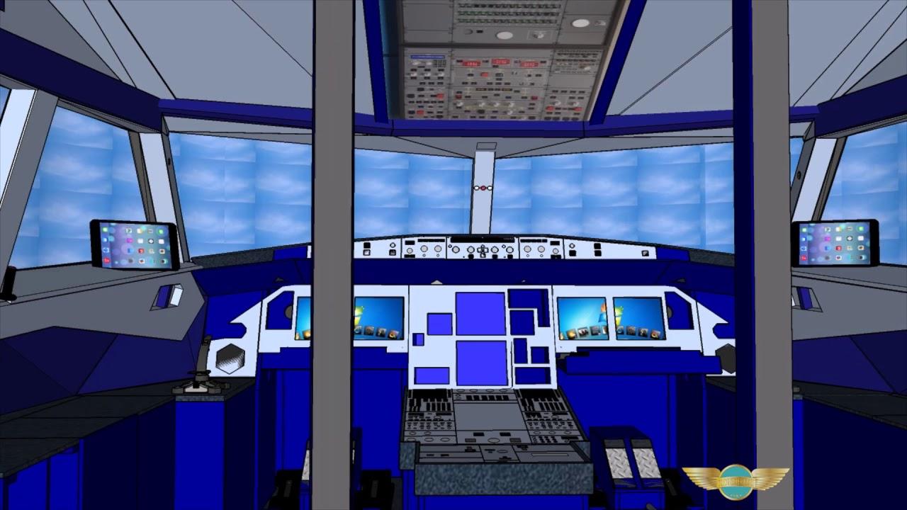 A320 PILOT EXPERIENCE SIM HOME COCKPIT PARTS 2017 3D PRESENTATION (#3)
