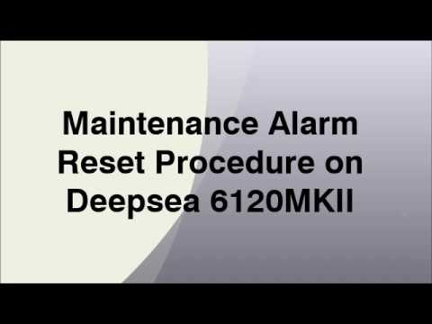 Maintenance Alarm Reset