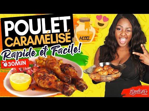 poulet-caramélisé-au-four-(miel)-:-recette-rapide-et-facile