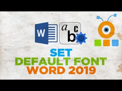 How to Set a Default Font in Word 2019 | How to Change the Default Font in Microsoft Word 2019