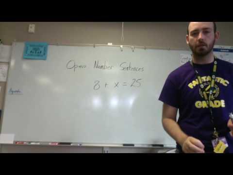 Math Unit 3 - Lesson 11 Open Sentences