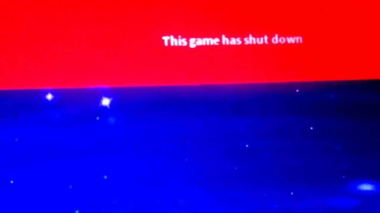 game shut down