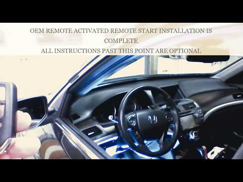PLUG AND PLAY REMOTE START INSTALLATION 2013-2017 ACCORD Push-To-Start.