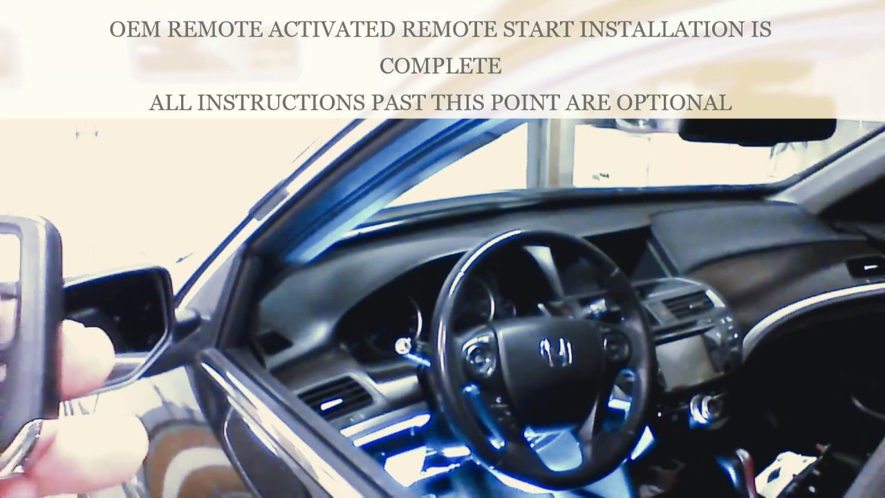 Plug And Play Remote Start Installation 2017 Accord Push To