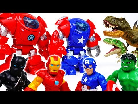 Thumbnail: Dinosaurs Escaped From Jurassic Park~! Go Avengers, Stop Dinosaurs With Armor Suits - ToyMart TV