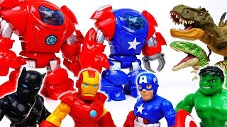 Dinosaurs Escaped From Jurassic Park~! Go Avengers, Stop Dinosaurs With Armor Suits - ToyMart TV