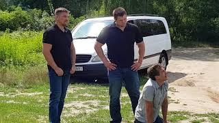 На съёмочной площадке с Дмитрием и Александром Ратниковым 23.07.2018