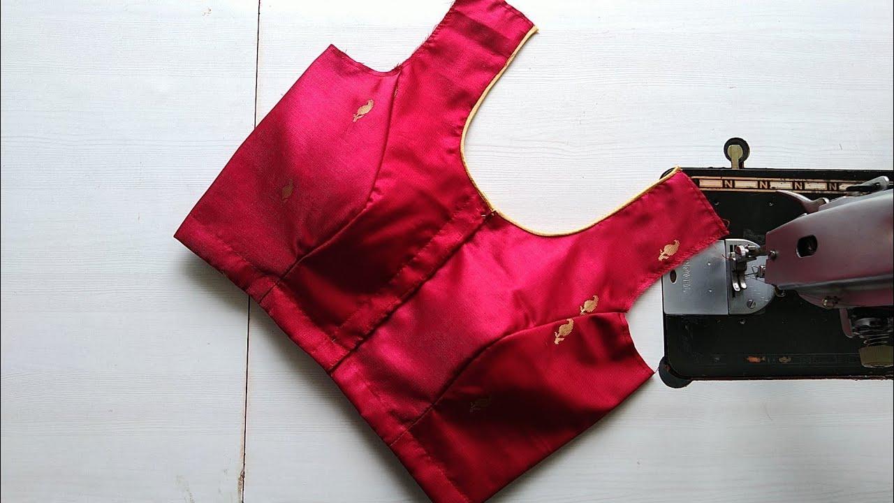 Download Princess cut blouse Design cutting and stitching   princess cut blouse design   with piping