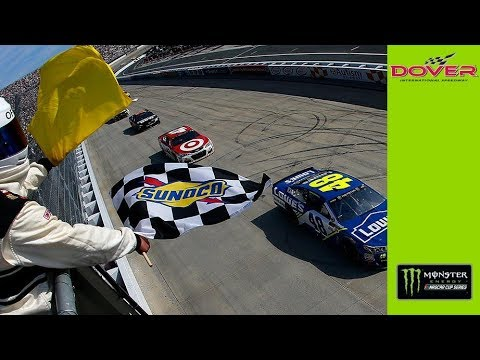 Jimmie Johnson wins at Dover amidst overtime wreck