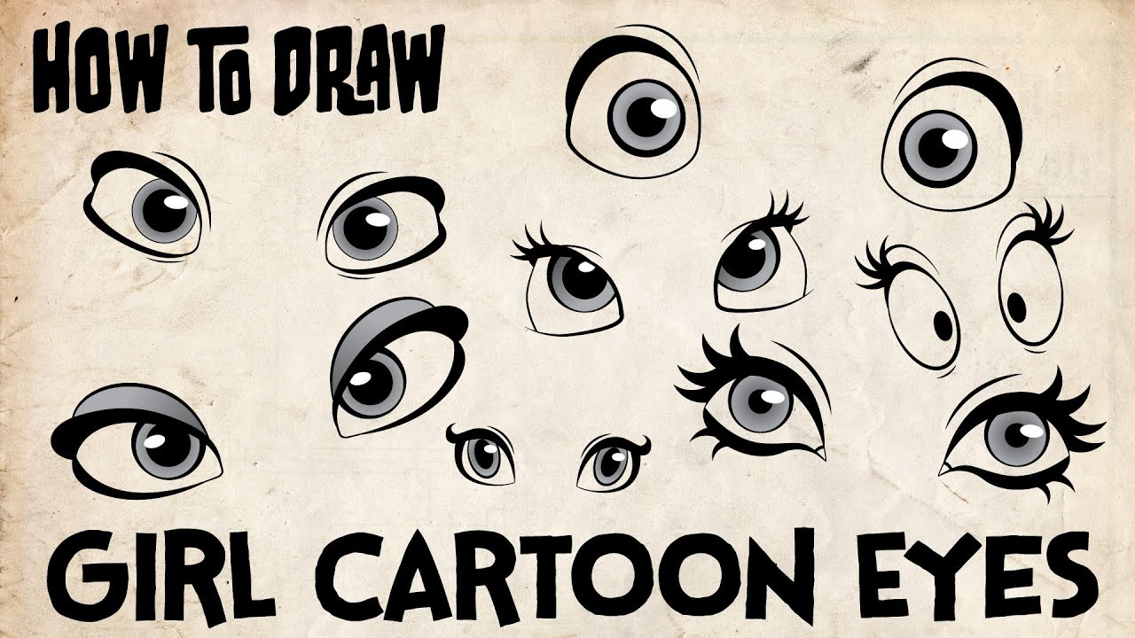 How To Draw Girl Cartoon Eyes Youtube