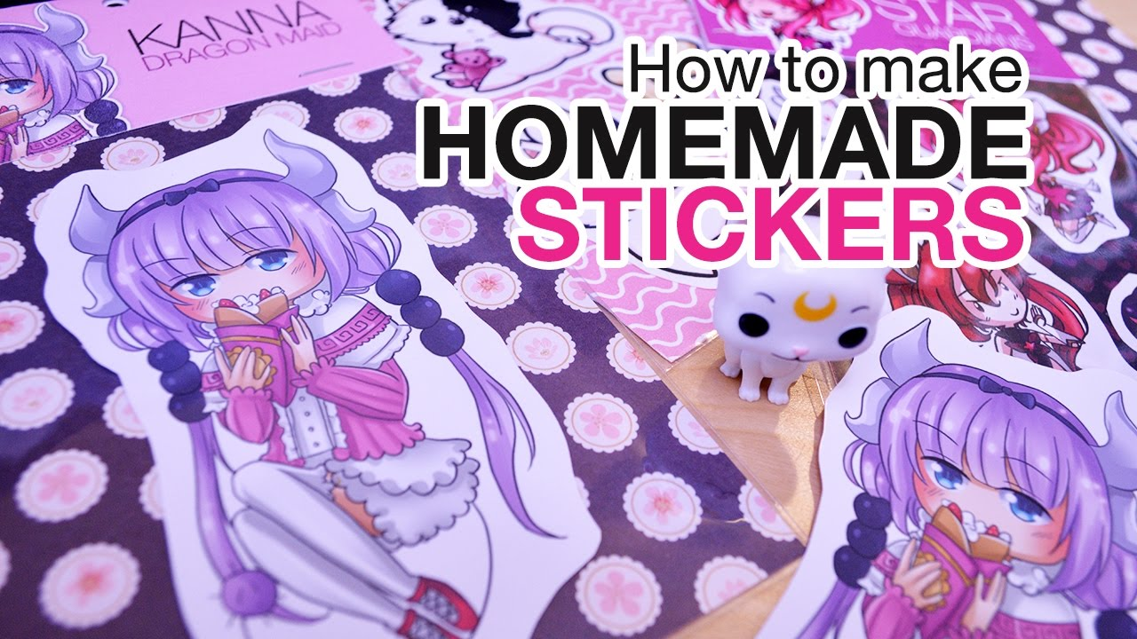 HOW TO MAKE HOMEMADE STICKERS + [Speed Paint] KANNA