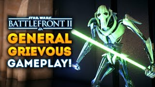 General Grievous NEW GAMEPLAY! All Abilities, Lightsaber Moves! - Star Wars Battlefront 2
