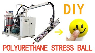How Are Stress Balls Made with China PU foam Injection Machine?