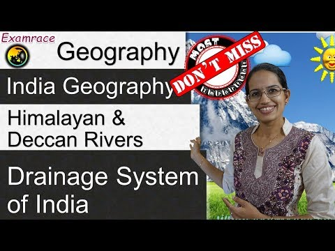3 Himalayan Rivers, 4 West & 4 East Flowing Peninsular Rivers - Drainage System in India