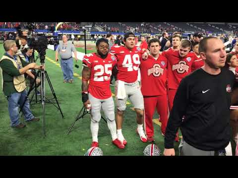 Carmen Ohio after Ohio State's 24-7 Cotton Bowl win over USC