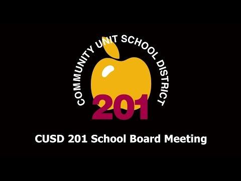 2016-10-25 Community Unit School District 201 Board Meeting