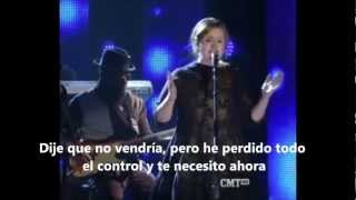 Adele feat. Darius Rucker I Need  You Now (subtitulado español )