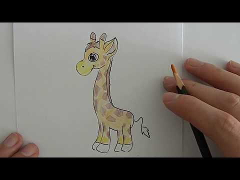 Как красиво нарисовать жирафа