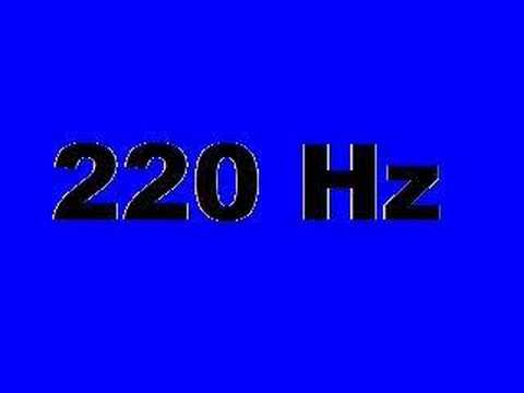 220 Hz (10 seconds of A)