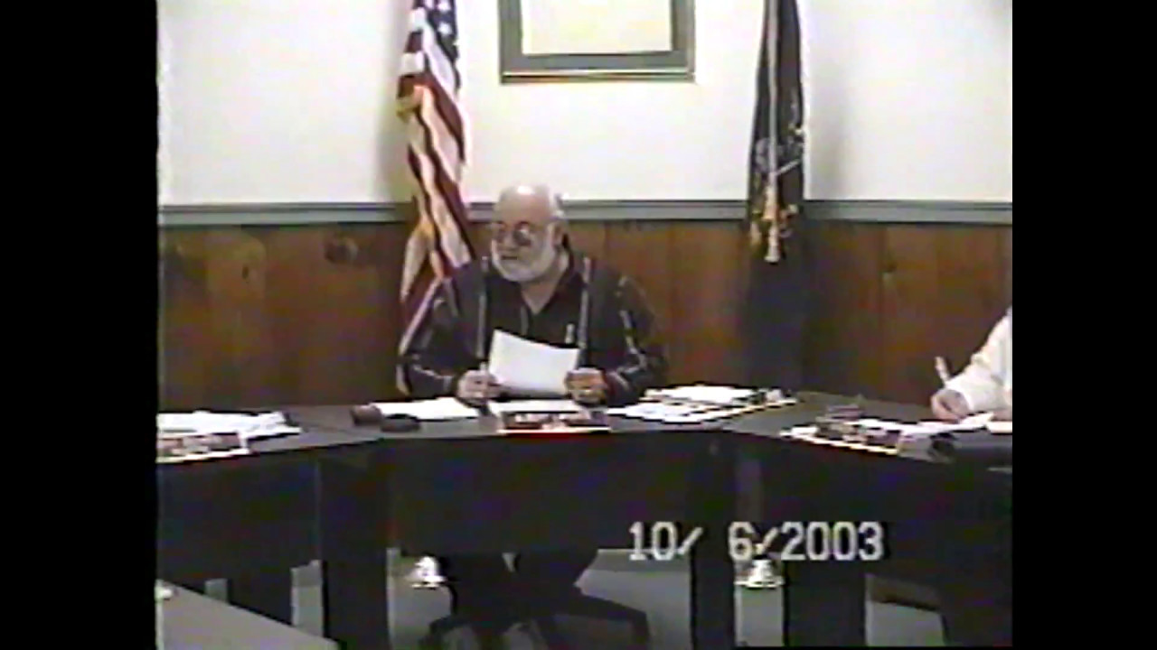 Champlain Village Board Meeting  10-6-03