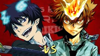 Tsuna Sawada vs Rin Okumura. Épicas Batallas de Rap del Frikismo | Keyblade ft. Kinox