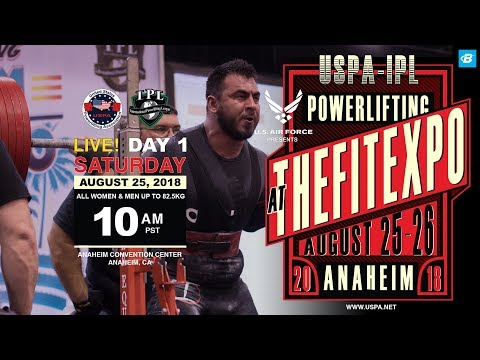 USPA-IPL Powerlifting | Anaheim Fit Expo - Day 1