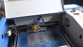 FL-K40 cutting 4mm acrylic, 40W mini laser, CO2 mini laser, laser cutting machine