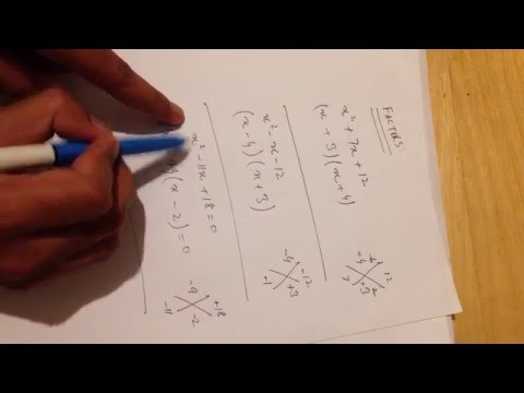 How to do factoring in Algebra