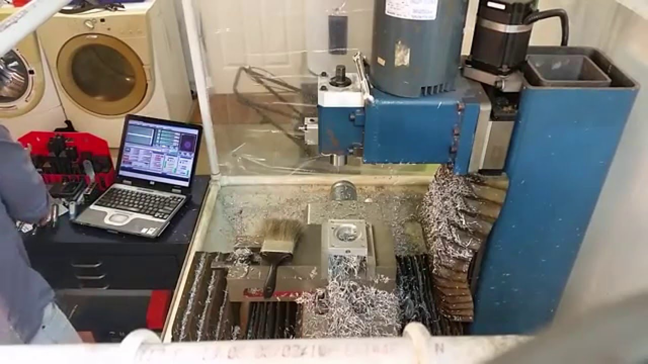 machining a custom motor mount on the homebrew CNC mill