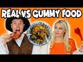Real Vs Gummy Food Turkey Dinner Totally TV mp3