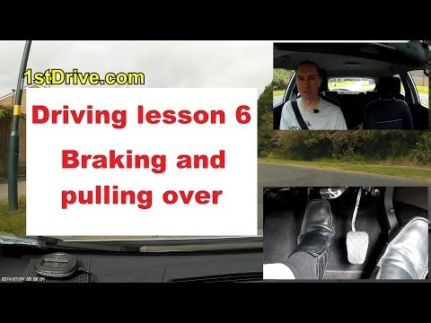 How to brake and pull over in a car