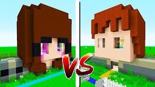 CASA JÚLIO VS CASA TULIPA - Minecraft Casa vs Casa
