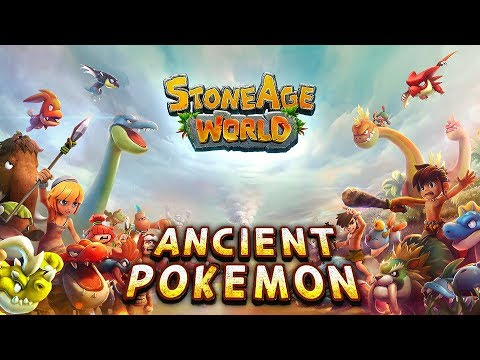 StoneAge World Android/iOS Gameplay. Ancient Pokemon