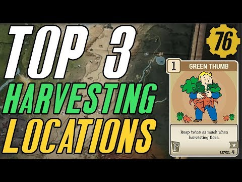 Fallout 76 TOP 3: Best Crop Harvesting Locations! (Guide