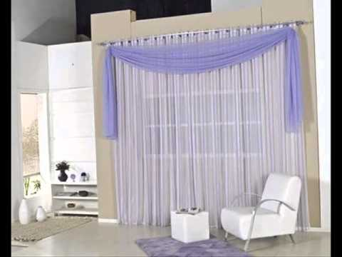 Cortinas para sala youtube for Como poner ganchos de cortinas