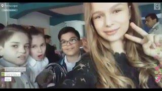 Участники шоу Голос Дети 3 на съемках программы Максима Галкина