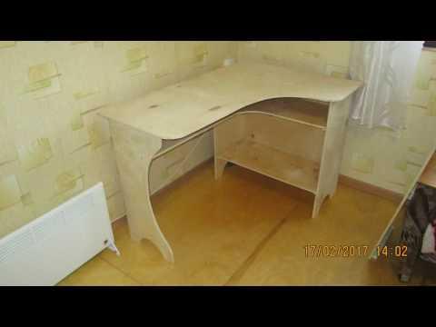 Угловой стол из фанеры своими руками.