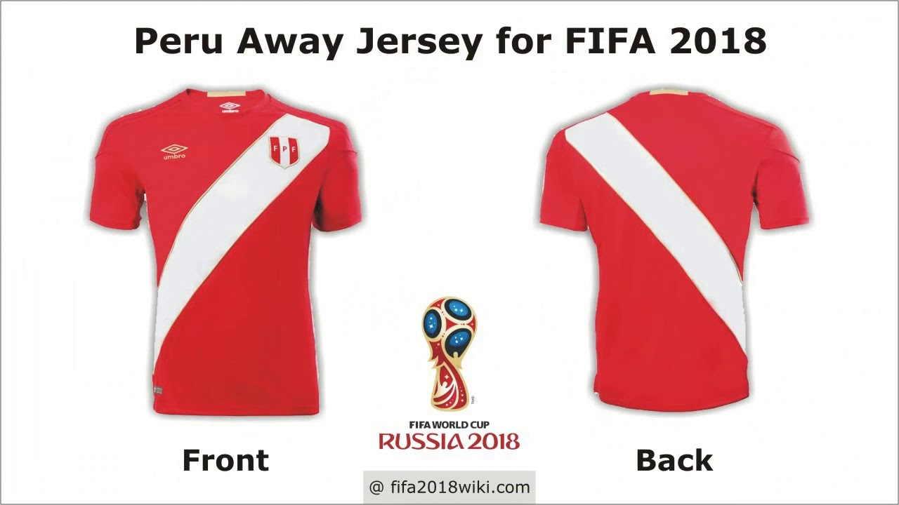 94960d10d7a Peru Jersey for FIFA 2018 Football World Cup - YouTube