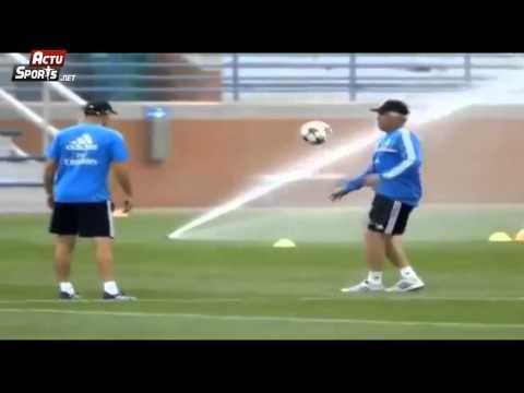 Zidane et Ancelotti à l'entrainement