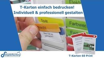 T-Karten selber auf der Vorderseite und Rückseite bedrucken