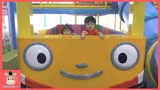 타요 키즈카페 중앙차고지 미끄럼틀 자동차 버스 놀이 ♡ 타요버스 장난감 색깔놀이 learn colors indoor playground | 말이야와아이들 MariAndKids