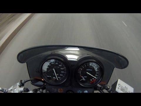 Honda CB-1 в действии riding with GoPro