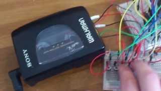 Walkman cassette synthesizer demo (by Matt from Robot Swans)