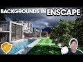 ADDING BACKGROUNDS IN ENSCAPE - Enscape Atmosphere Settings Tutorial