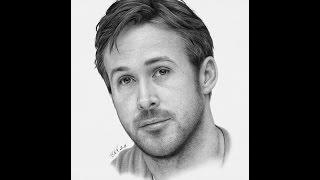 Hyperrealistic Ryan Gosling drawing